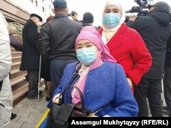 Жительница Кызылорды Роза Смагулова. Нур-Султан, 12 октября 2020 года.
