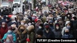 Марш пэнсіянэраў, Менск, 30 лістапада