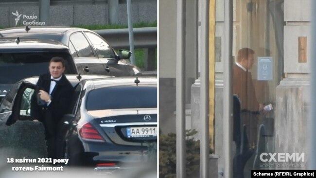 18 квітня 2021 року «Схеми» зафіксували, як до п'ятизіркового готелю Fairmont у центрі Києва під'їхав Mercedes – водієм був Микола Тищенко