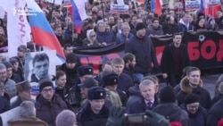 March In Moscow Honors Murdered Kremlin Critic Boris Nemtsov