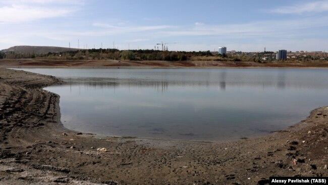 Симферопольское водохранилище, октябрь 2020 года