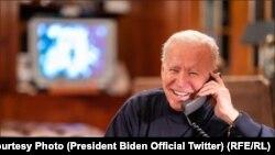 جو بایدن رئیس جمهور امریکا حین صحبت با عساکر امریکایی در افغانستان