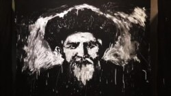 Кыргызский художник без кисти создал портрет Токтогула Сатылганова