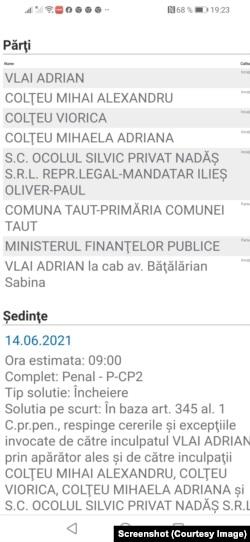 Acțiune penală admisă la Curtea de Apel Timișoara în 2021