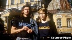 Borisz Grebenscsikov és Joanna Stingray 1986-ban, Leningrádban