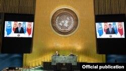 Видеообращение президента КР Сооронбая Жээнбекова на 75-й сессии Генеральной Ассамблеи ООН.