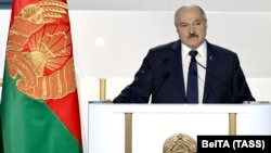 """""""The time will come and other people will come,"""" Belarusian strongman Alyaksandr Lukashenka told the congress of loyalists in Minsk, hinting at his eventual departure."""