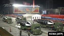 راکتهای جدید به نمایش گذاشته شده توسط کوریای شمالی