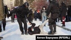 Акция протеста в Новосибирске 23 января
