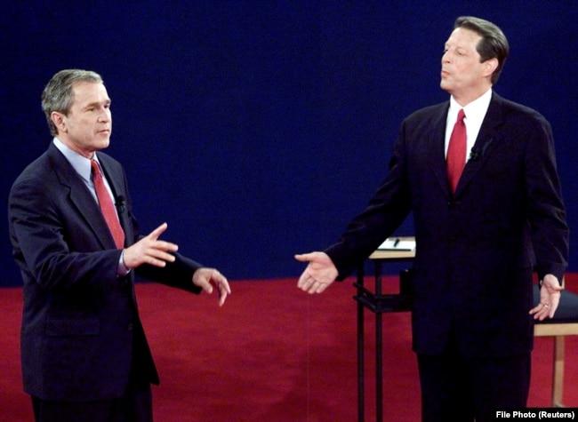 George W.Bush dhe Al Gore.