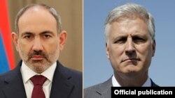 Премьер-министр Армении Никол Пашинян и советник президента США по национальной безопасности Роберт О'Брайен