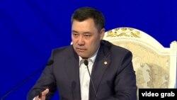 Садыр Жапаров басма сөз жыйынында. 12-ноябрь, 2020-жыл. Бишкек.