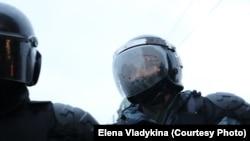 ОМОН на акции протеста 23 января в Петербурге. Архивное фото