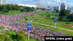 Оппозиционный марш в Минске. 13 сентября 2020 года.
