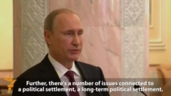 Putin Welcomes Minsk Deal