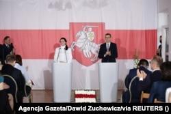 Cустрэча Сьвятланы Ціханоўскай і прэм'ер-міністра Польшчы Матэвуша Маравецкага ў Варшаве. 9 верасьня 2020 году