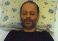 Journalist Ganji during his hunger strike in July (courtesy photo)