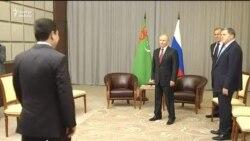 Бердымухамедов подарил Путину на день рождения алабая по кличке Верный