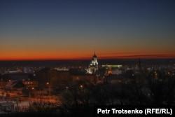 Вид на самый старый район Петропавловска. 20 декабря 2020 года.