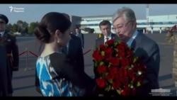 Встреча президента Казахстана в аэропорту Ташкента