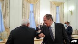 Ministrul rus de externe Serghei Lavrov și omologul său iranian Mohammad Javad Zarif, noiembrie 2020