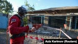 Tovuz rayonunun Ağdam kəndində minaaxtaran