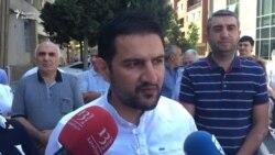 Korrupsiya qarşı mübarizə idarəsinin qarşısında etiraz