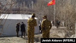 На границе Кыргызстана и Таджикистана. Иллюстративное фото.
