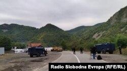 Prizor sa graničnog prelaza Jarinje, Kosovo (22. septembar 2021.)