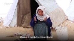 Iarna în tabăra de refugiați afgani