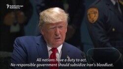 Trump Calls On Nations To Combat Iran's 'Bloodlust'