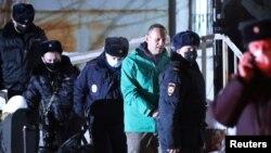 Алексей Навальнийнинг ҳибсга олиниши, 2021 йил 18 январи