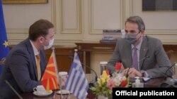 Министерот за надворешни работи Бујар Османи, во рамките на официјалната посета на Грција се сретна со премиерот Кирјакос Мицотакис.