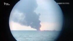 Відео: біля берегів Криму горять два танкери – є жертви