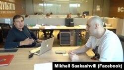Михаил Саакашвили и Ника Мелия
