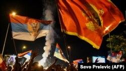Sprijinitori ai opoziției din Muntenegru, Podgorița, 31 august 2020