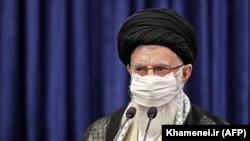 Iranian Supreme Leader Ayatollah Ali Khamenei addresses nation in a live TV speech on the occasion of Eid al-Adha in Tehran, July 31, 2020