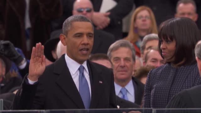 Barack Obama a depus jurământul pentru al doilea mandat de preşedinte al Statelor Unite