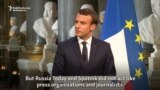 Macron Accuses Russian State Media Of 'Propaganda'