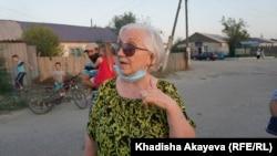 Водный ауылының тұрғыны Галина Бурминская. Семей, 19 тамыз 2020 жыл.