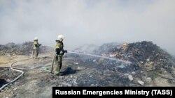Тушение пожара в Евпатории, иллюстрационное архивное фото