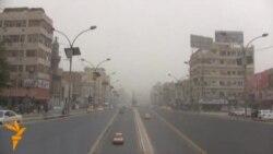 عاصفة ترابية تضرب بغداد