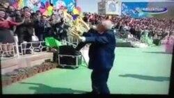 Рақси Ислом Каримов дар иди Наврӯз