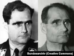Рудольф Гесс у 1933 році (ліворуч) і він же у 1945 році