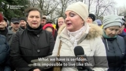 Protesters In Babruysk Criticize Poverty, 'Serfdom' In Belarus