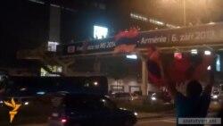 Պրահայի փողոցներում տոնում են Հայաստանի հավաքականի փայլուն հաղթանակը