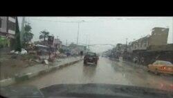 الأمطار تحول شوارع كربلاء إلى برك