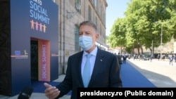 Președintele Klaus Iohannis, declarații înaintea Summitului Social de la Porto.