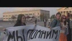 Акцыя салідарнасьці на Кастрычніцкай