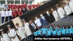 Кыргызстан, Казакстан жана Өзбекстандын Олимпиадага жолдомо алган спортчулары.